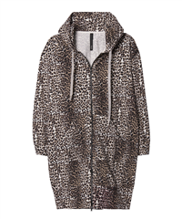 10Days katoenen hooded leopard vest