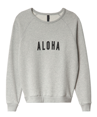 10Days light grey melee jog sweater Aloha