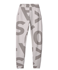 10Days perfect jogger big logo silver white