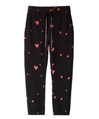 10Days zwarte cropped jogger heart eyes