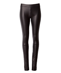 10Days zwarte leatherlook legging The Biker Leggings