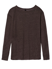 10Days taupe kleurige damaged longsleeve shirt met glitter
