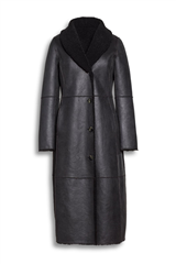 Beaumont donkergroene reversible lammy coat