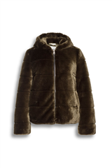 Beaumont legergroene fake fur kort jack