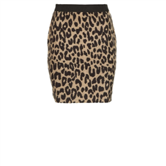 Les Favorites wollen leopard rok Karin