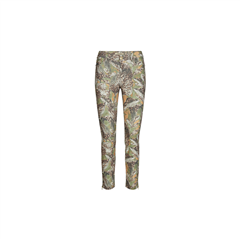 MosMosh oil green prnt Victoria Maya cropped broek