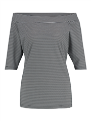 Studio Anneloes grijs wit gestreepte top Dolly small stripe