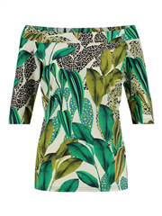 Studio Anneloes wit met groene print top Dolly