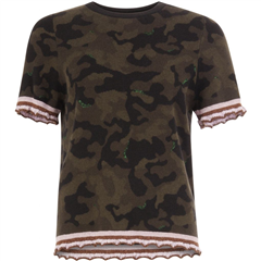Coster Copenhagen camouflage jacquard top
