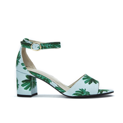 Fabienne Chapot Yasmine pump mint canvas Citrus Leaf