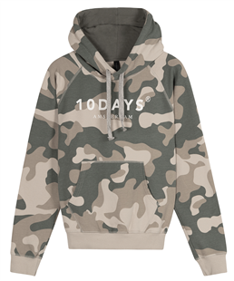 10Days hoodie sweater camo grey moss