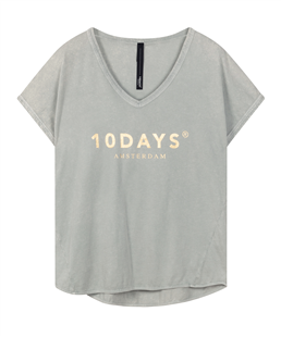 10Days silver white fade out t-shirt