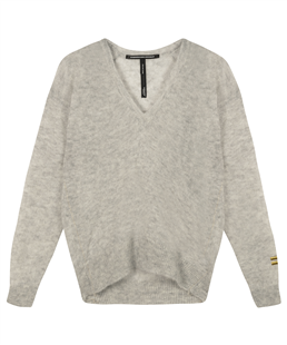 10Days thin sweater v-hals light grey melee