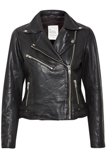Denim Hunter The leather Jacket black