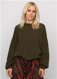 Elias Rumelis olijfkleurige oversized sweater Malin