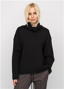 Elias Rumelis zwart lang oversized sweater Christina