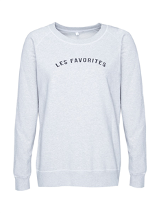 Les Favorites grijs melee sweater Posy