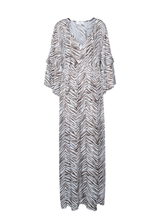 Les Favorites zebra kaftan jurk Bella