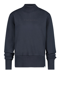 Pennandink donkerblauwe sweater met turtleneck