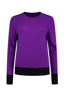 Pom Amsterdam royal purple pullover trui