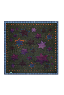 Pom Amsterdam sjaal Starry night violet