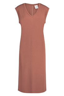 Simple dusty rose Pheline midi jurk
