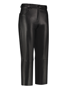 Studio Anneloes zwarte leatherlook driekwart broek Culotte Madisson