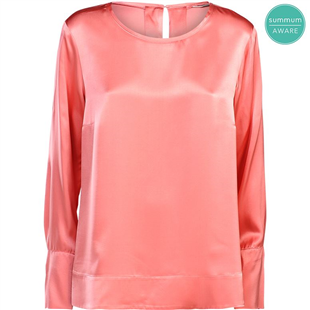 Summum roze viscose glimmende top