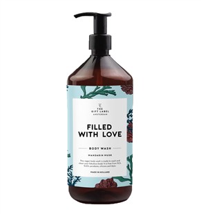 The Gift Label Body wash Filled with Love Mandarin musk