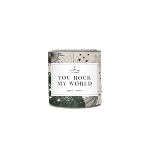 The Gift Label Candle tin big You Rock My World fresh cotton