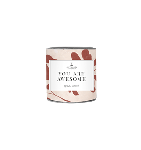 The Gift Label Candle tin big You are Awesome Jasmine Vanilla