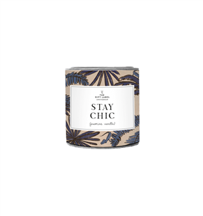 The Gift Label Candle tin small Stay Chic Jasmine Vanilla
