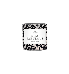 The Gift Label Candle tin small Stay Fabulous fresh cotton