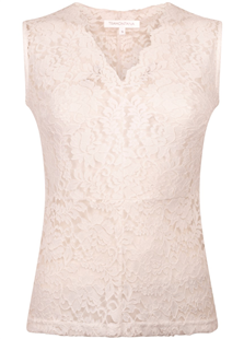 Tramontana top offwhite lace