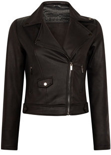 Tramontana zwarte biker jack coated sweat