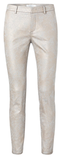 Yaya faded bronze coated chino broek met stretch