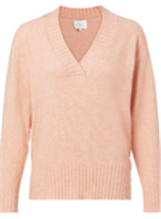 Yaya papaya wool blend sweater met v-hals