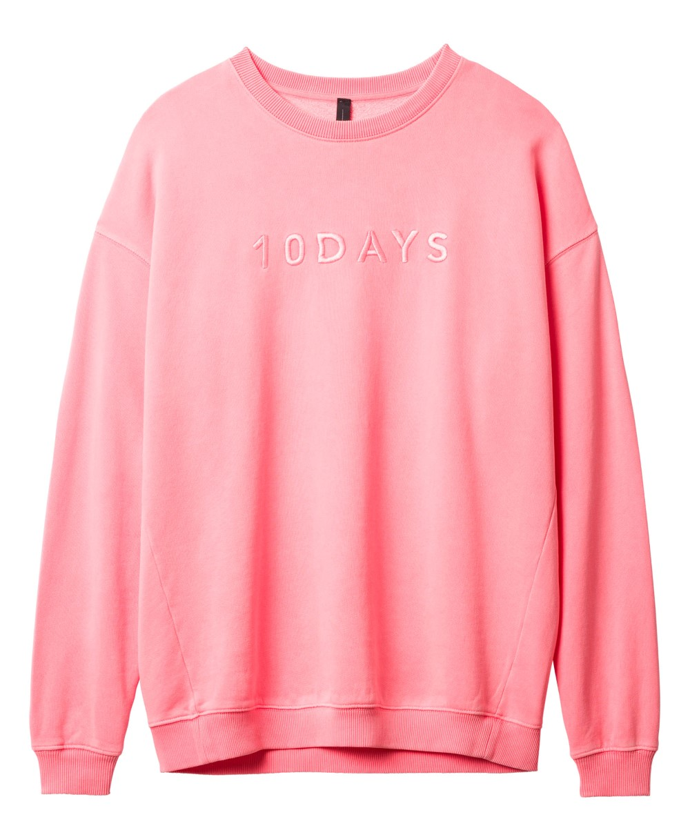 10Days fluor roze oversized sweater