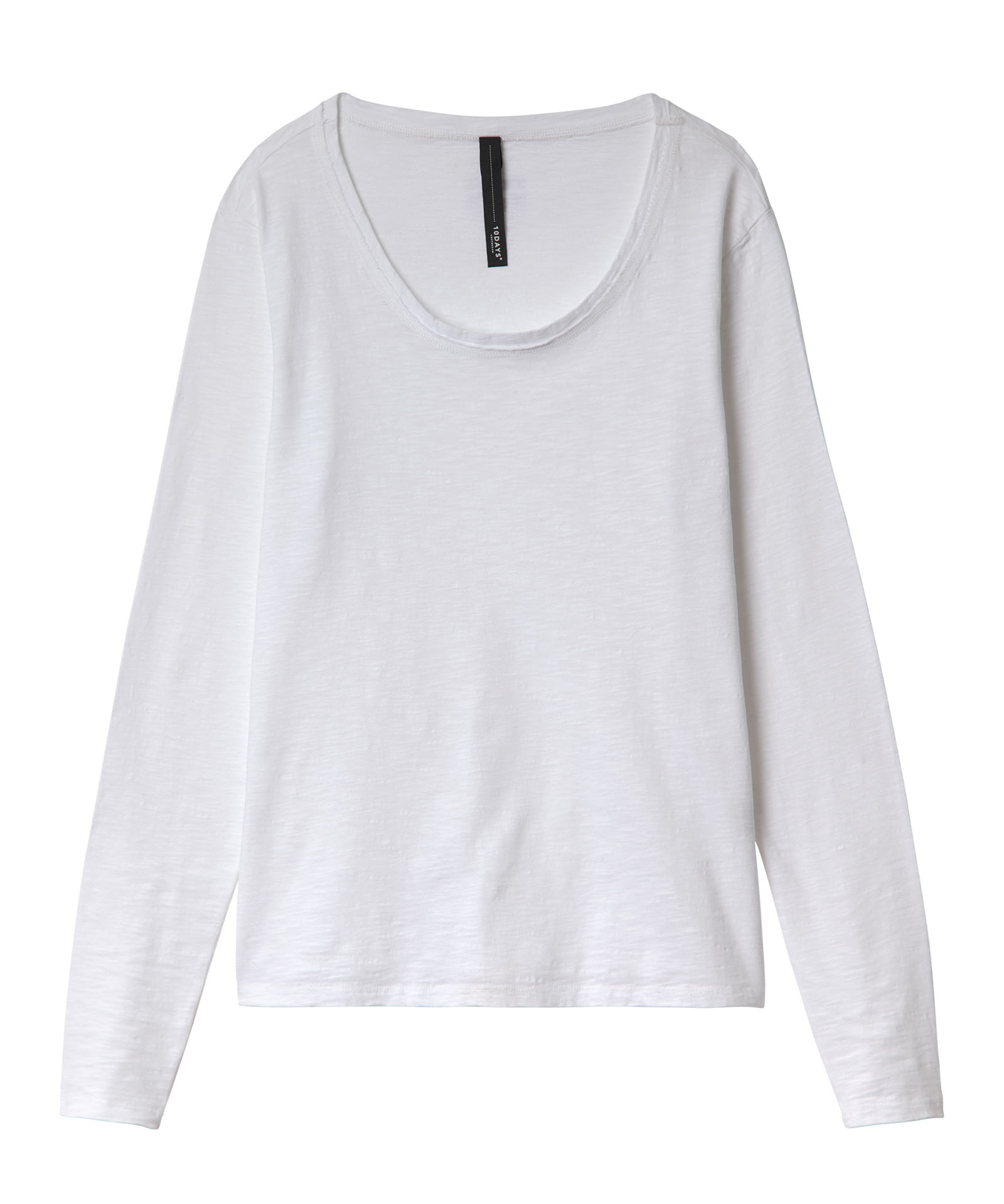 10Days witte longsleeve slub top