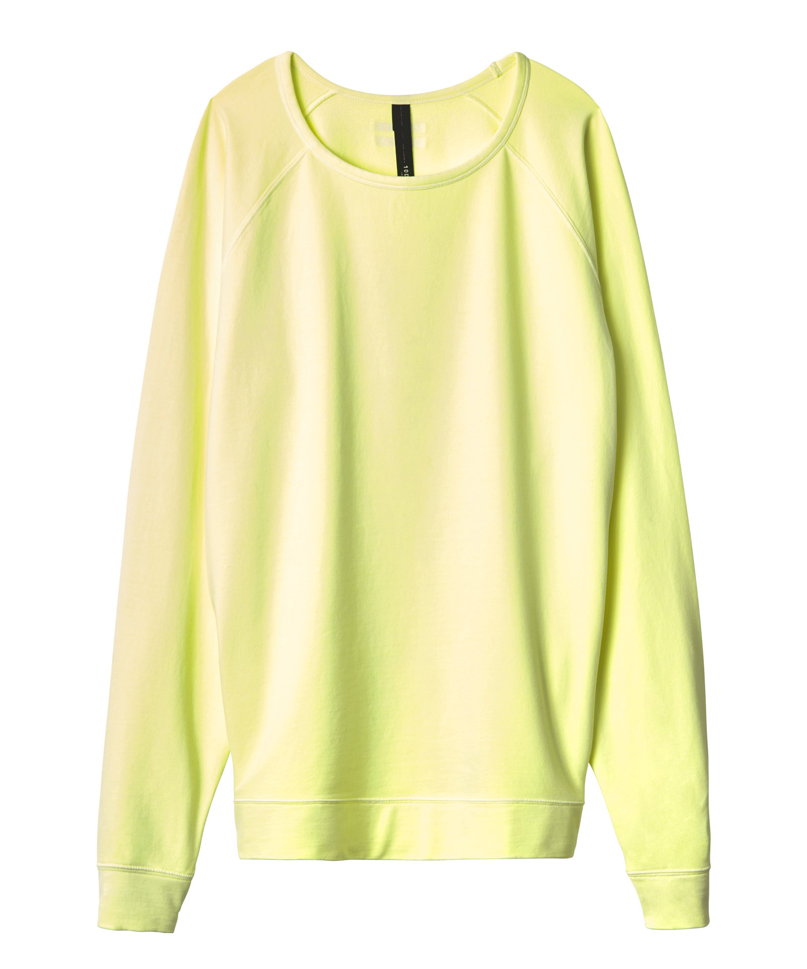 10days fluor yellow the crew neck sweater