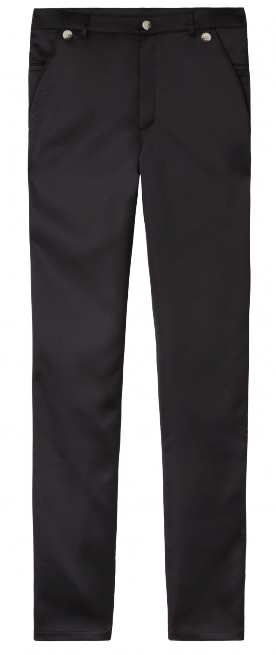 10Days zwarte glanzende high waist pantalon