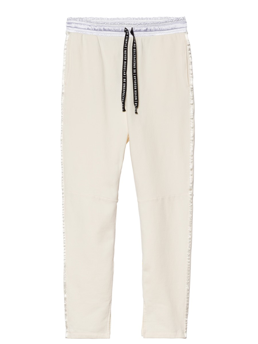 10days high waist jogger white wool