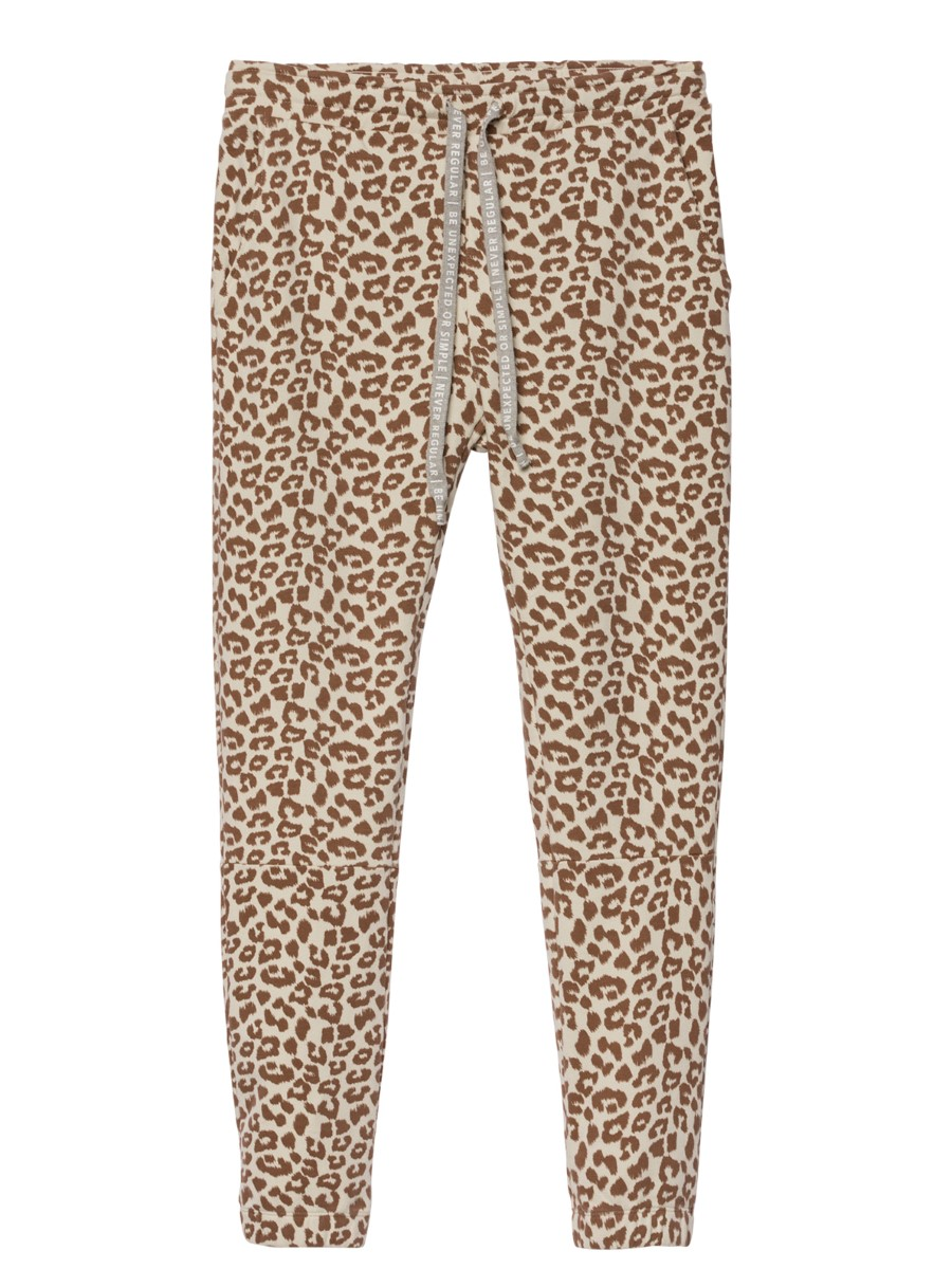 10Days cropped jogger leopard bone