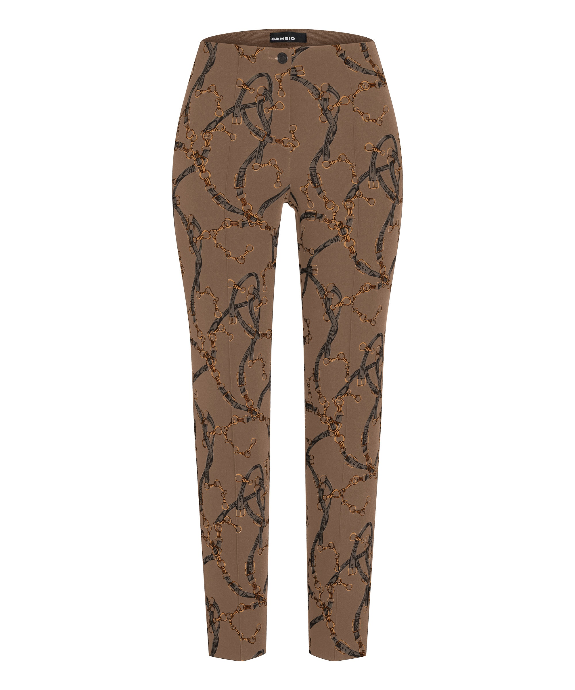 Cambio broek Ros bohemian snaffle belt print on techno stretch