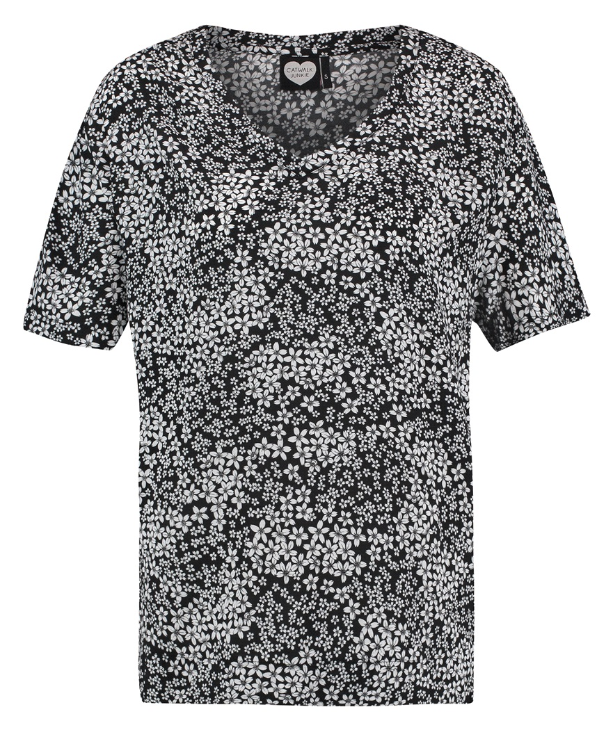 Catwalk Junkie shirt white flowers