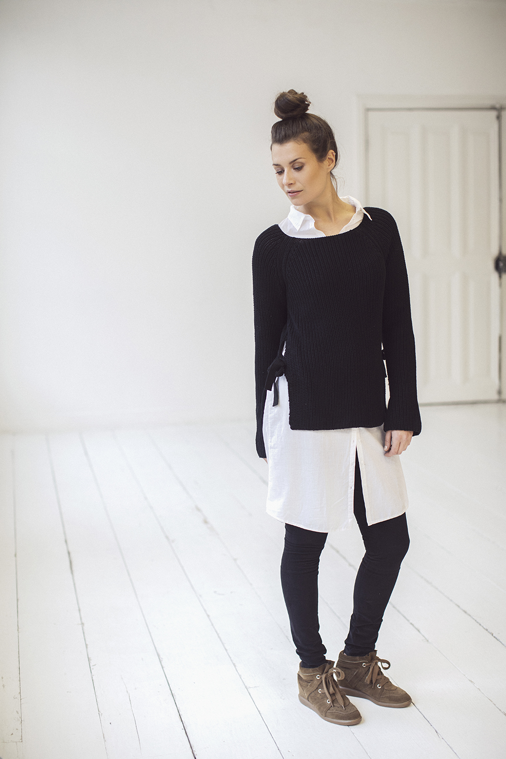Les Favorites witte lange blouse Fiep