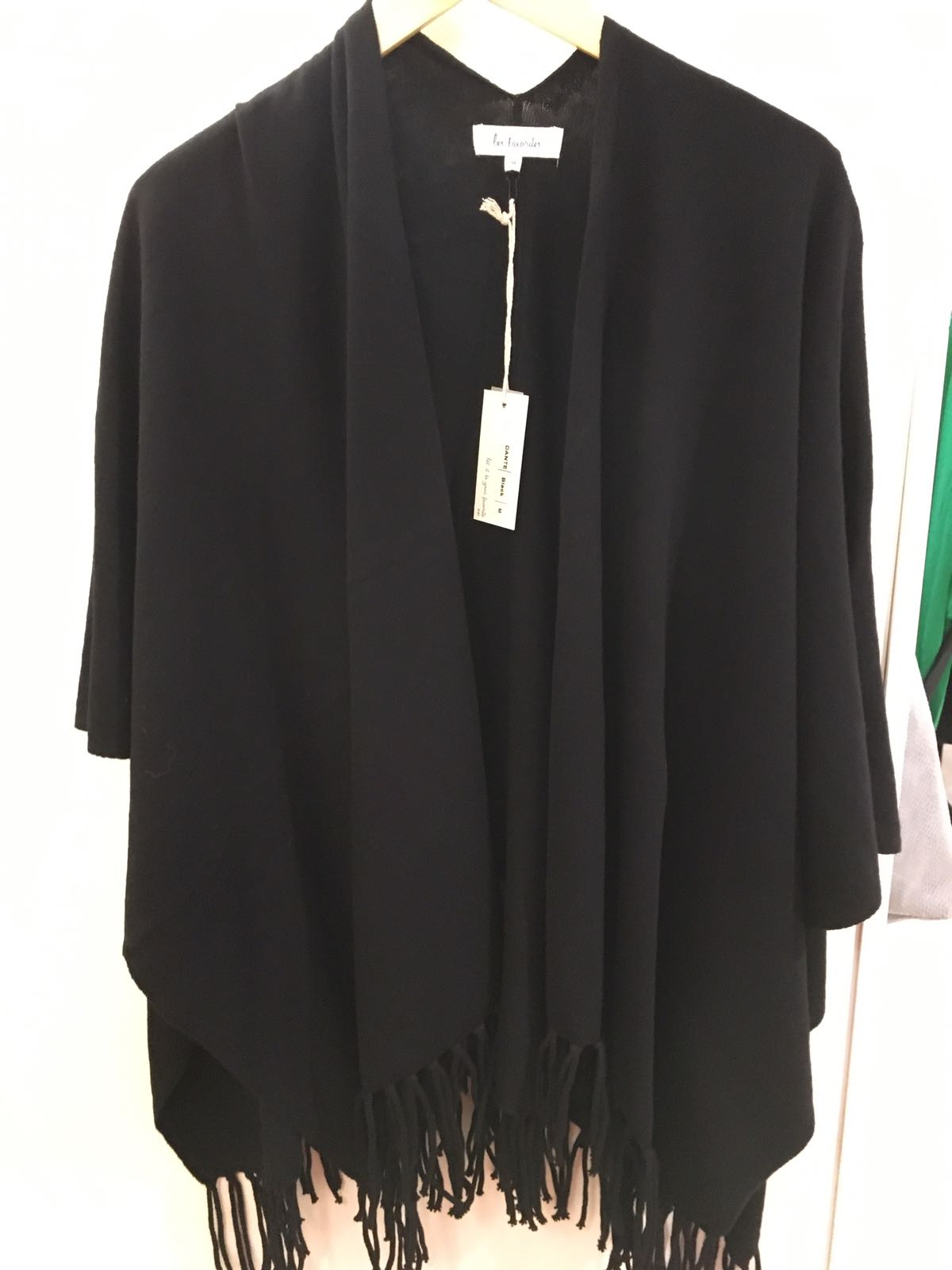 Les Favorites zwarte poncho Dante