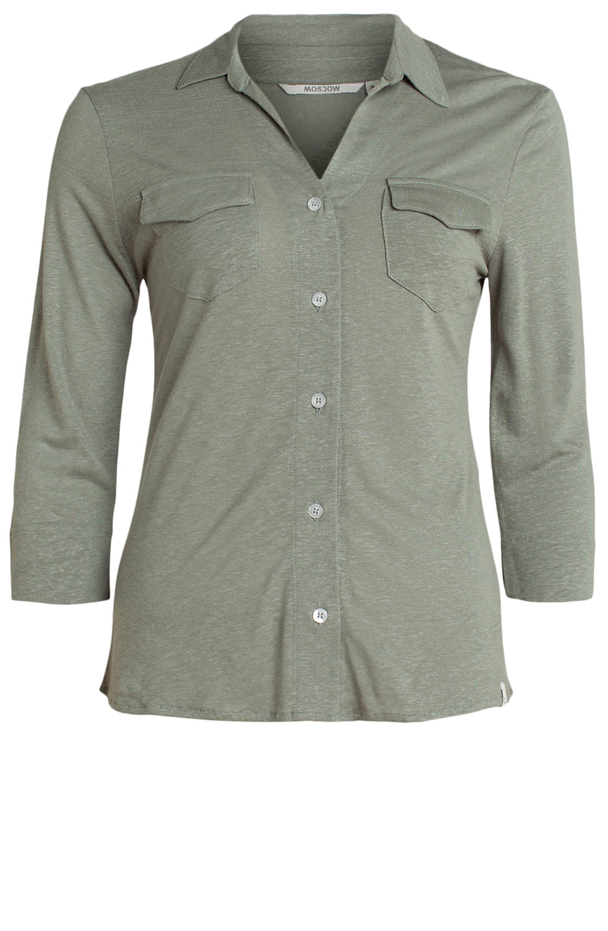 Moscow light sage jersey blouse