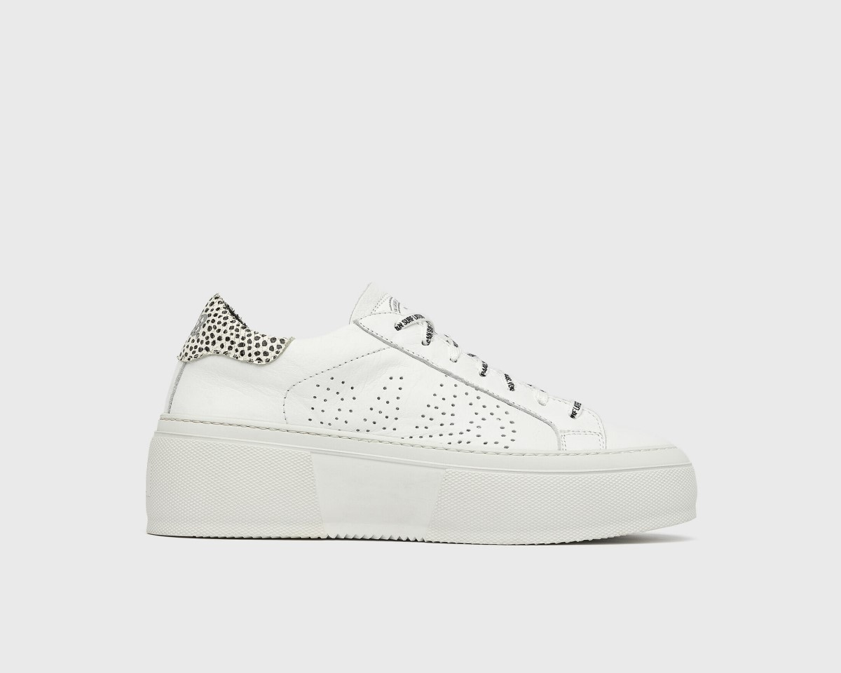 P448 witte sneakers Louise gravel