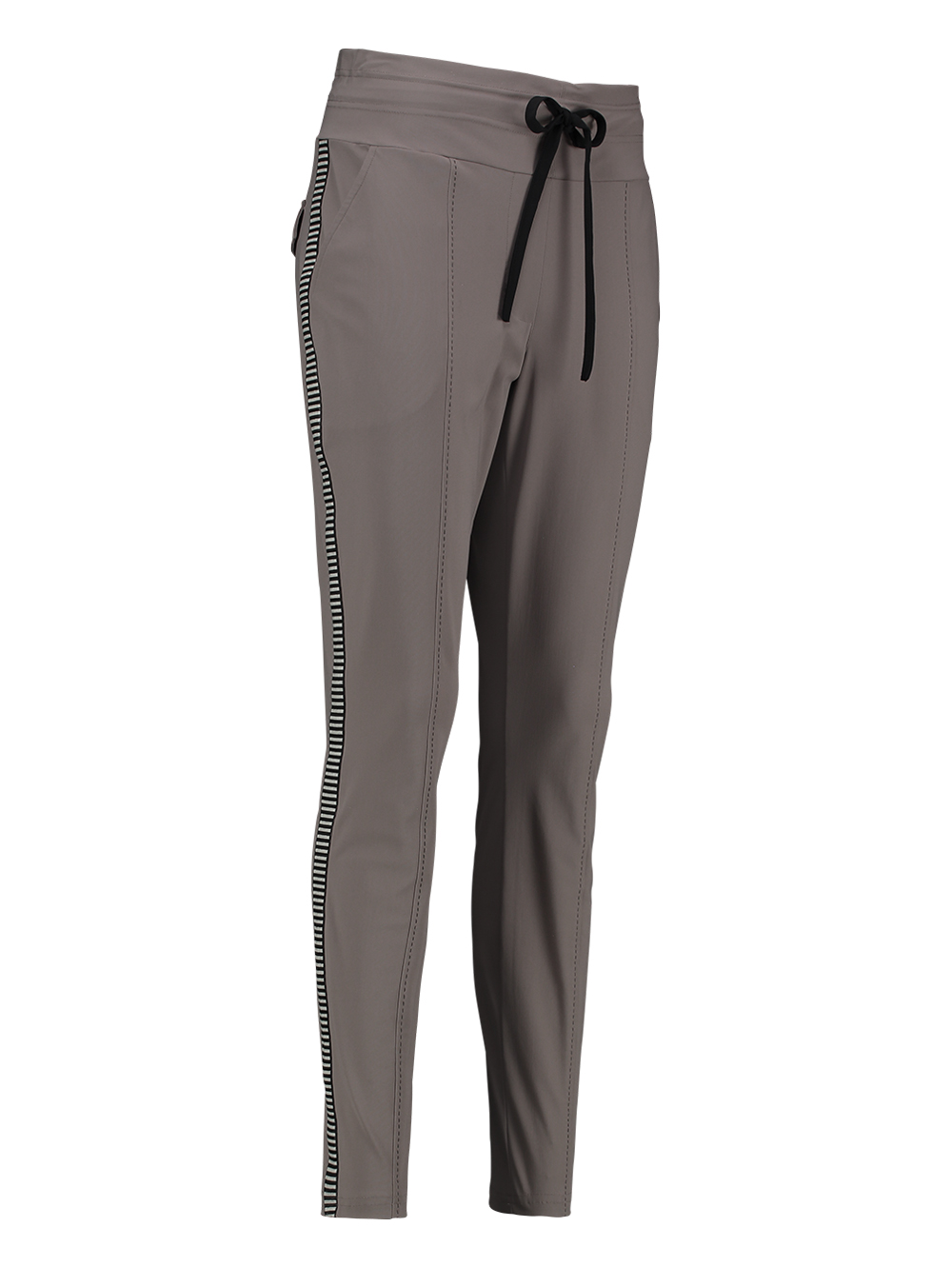 Studio Anneloes taupe Office broek contrast tape